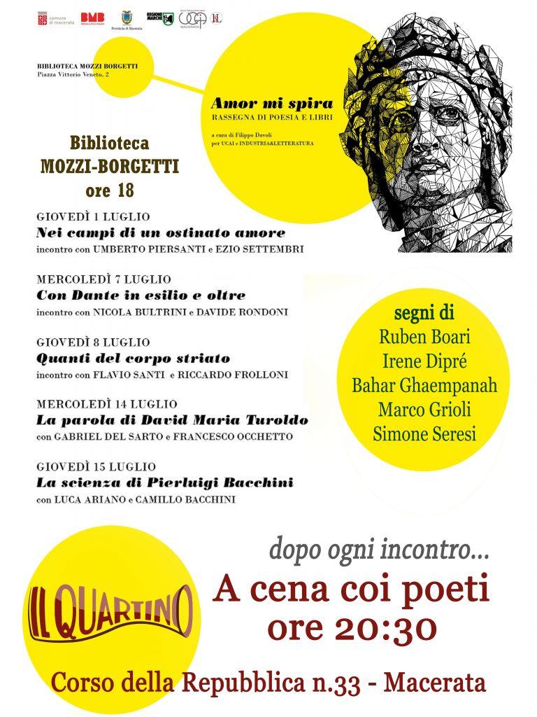 """Al via giovedì 1 luglio la Rassegna """"Amor mi spira"""", nel segno di Dante"""